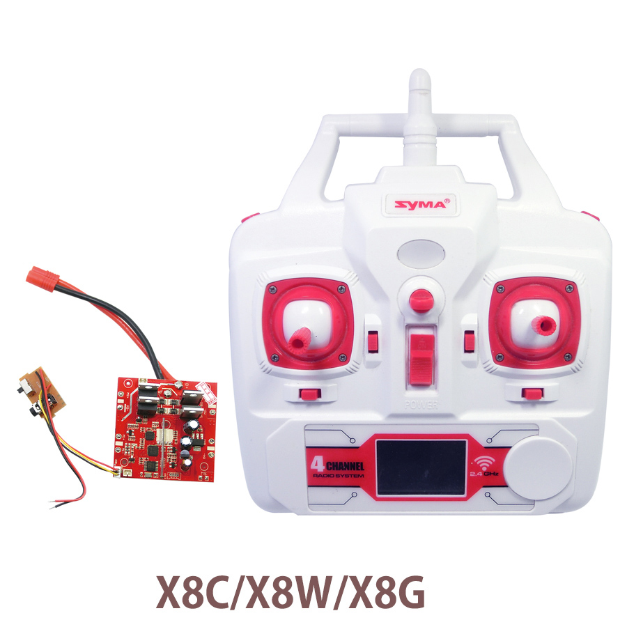 Syma X8 X8C X8W X8G Quadrocopter Remote Control With Receiver PCB Board RC Helicopters Drone Spare Parts Controller Receiver mini drone rc helicopter quadrocopter headless model drons remote control toys for kids dron copter vs jjrc h36 rc drone hobbies