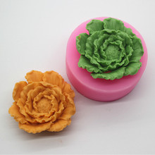 3D Peony mold handmade silicone material food grade sugar craft chocolate Flower Soap