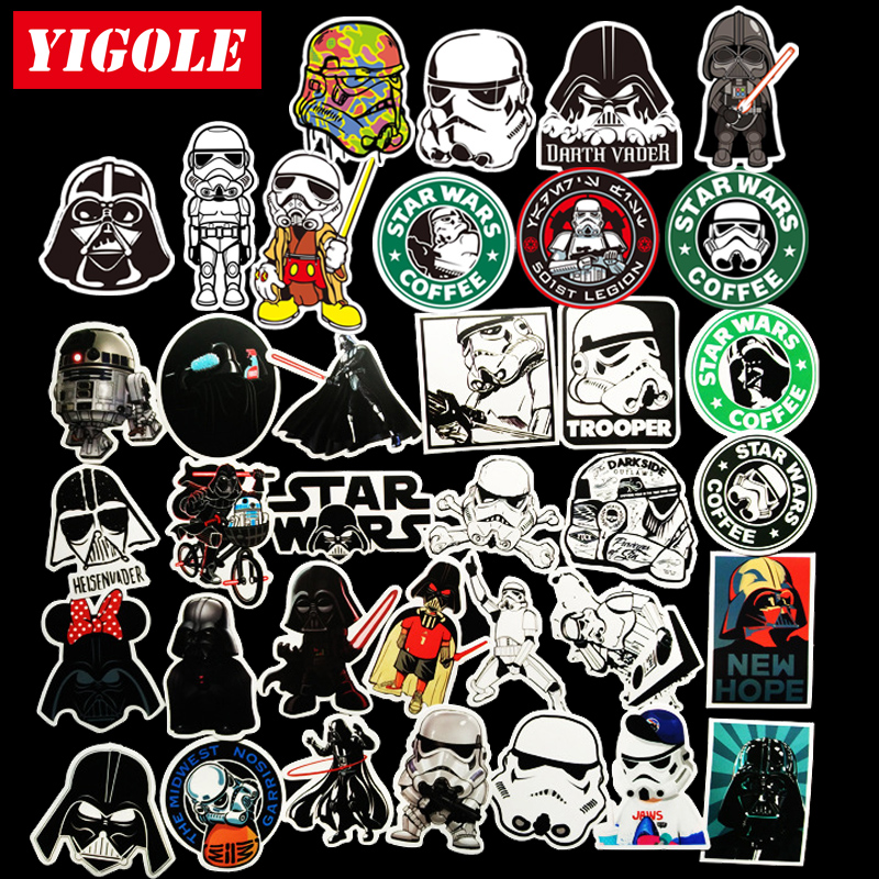Online shop 35pcs lot sticker star wars laptop skateboard suitcase waterproof stickers aliexpress mobile