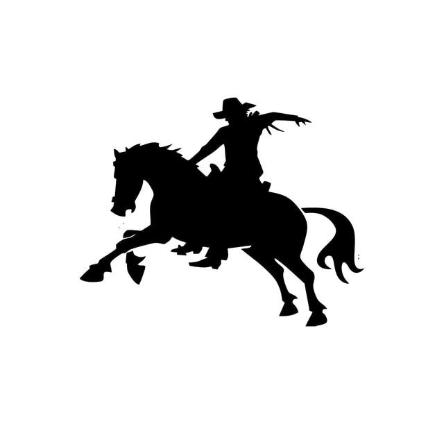 52d60aa7376e6 Etiqueta do carro Vinil Cowboy Cowgirl Embalagem Etiqueta Do Carro  Acessórios de Decoração Decalque Do Produto