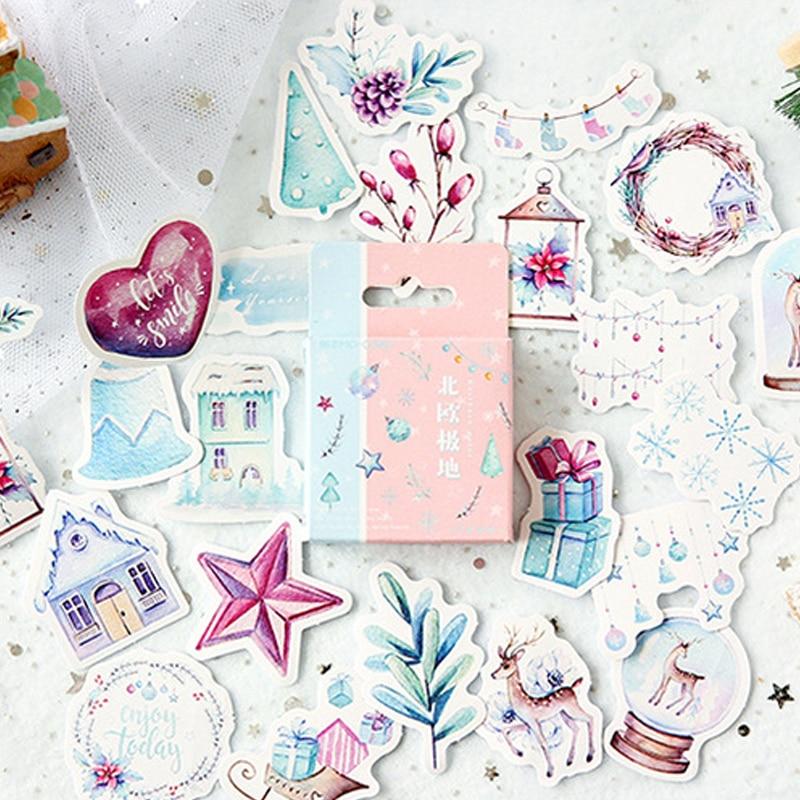 46 Pcs/box Beautiful Dream Plant Mini Paper Sticker Decoration DIY Diary Scrapbooking Seal Sticker Kawaii Stationery