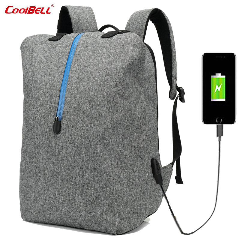 CoolBELL Laptop bag 15.6 Anti-theft Laptop Backpack External USB Charge Knapsack Day Pack Carrying Leisure Bag for Macbook-FF