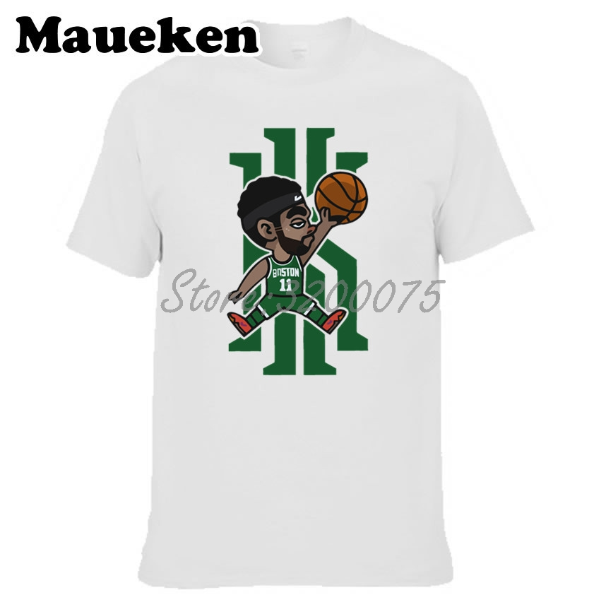 O On In From Jordan Tshirt W19031205 Kyrie 11 88men Boston Air Cartoon Neck Irving T Clothes Tee Men's Clothing Shirt Us18 Shirts ON80PnwXk