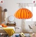 Художественная акриловая люстра  лампа для спальни  люстра  светодиодная Подвесная лампа E27  Хэллоуин  тыква  освещение  светодиодный светил...