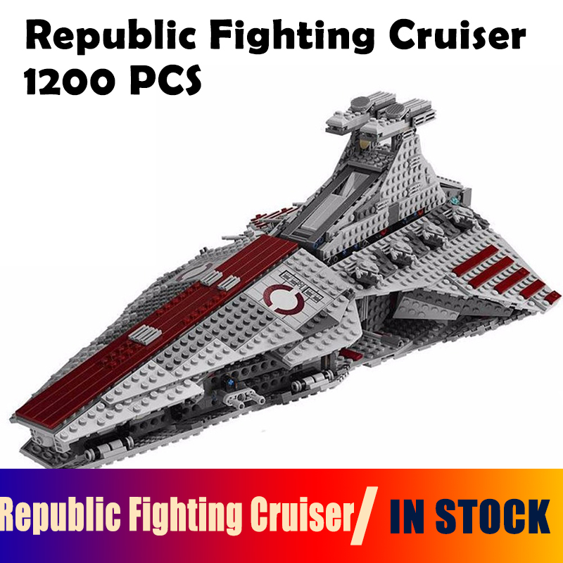 05042 Star Series Republic Fighting Cruiser Military War Compatible with lego 8039 Model Building Blocks Classic Toy Kid enlighten building blocks military cruiser model building blocks girls