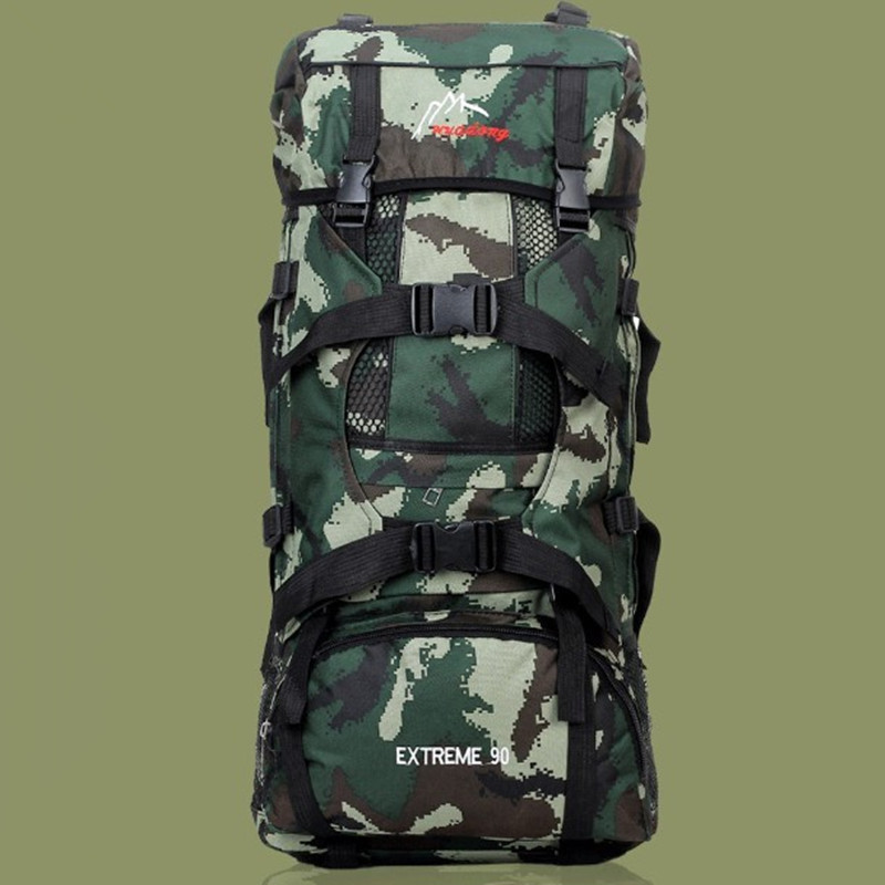 Hot Sale Multifunctional fashion backpacks 90L large capacity camouflage backpack travel shoulders bags free shipping XC102