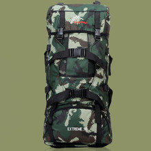 Фотография New Multifunction fashion outdoor climbing backpacks 90 L big capacity camouflage backpack camping bags free shipping XC102
