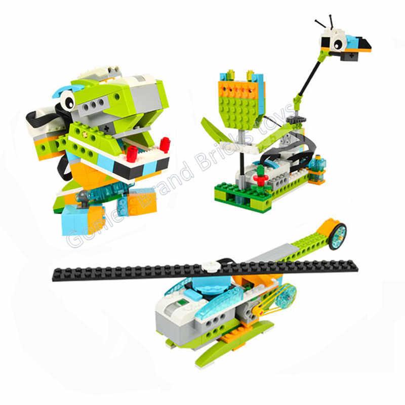 Pièces techniques compatibles avec Wedo2.0 fonctions éducatives pièces de bricolage 45300 WeDo 2.0 ensemble blocs de construction bricolage jouets cadeaux