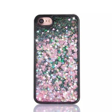 Color For iphone5 5s 6 6 Plus Case Flash Shine Glitter TPU Rugged Silicone Rubber Cover For iphone6s 7 7 Plus Phone Case 4.7/5.5