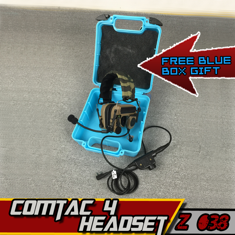 Z-TAC comtac IV Headset Tactical Military Air Gun Headphones Z TAC PTT Midland kenwood Ipsc Peltor Hunting Earphone For Shooting z tactical noise reduction headset comtac ipsc style tactical hunting shooting protective earphone for airsoft military radio