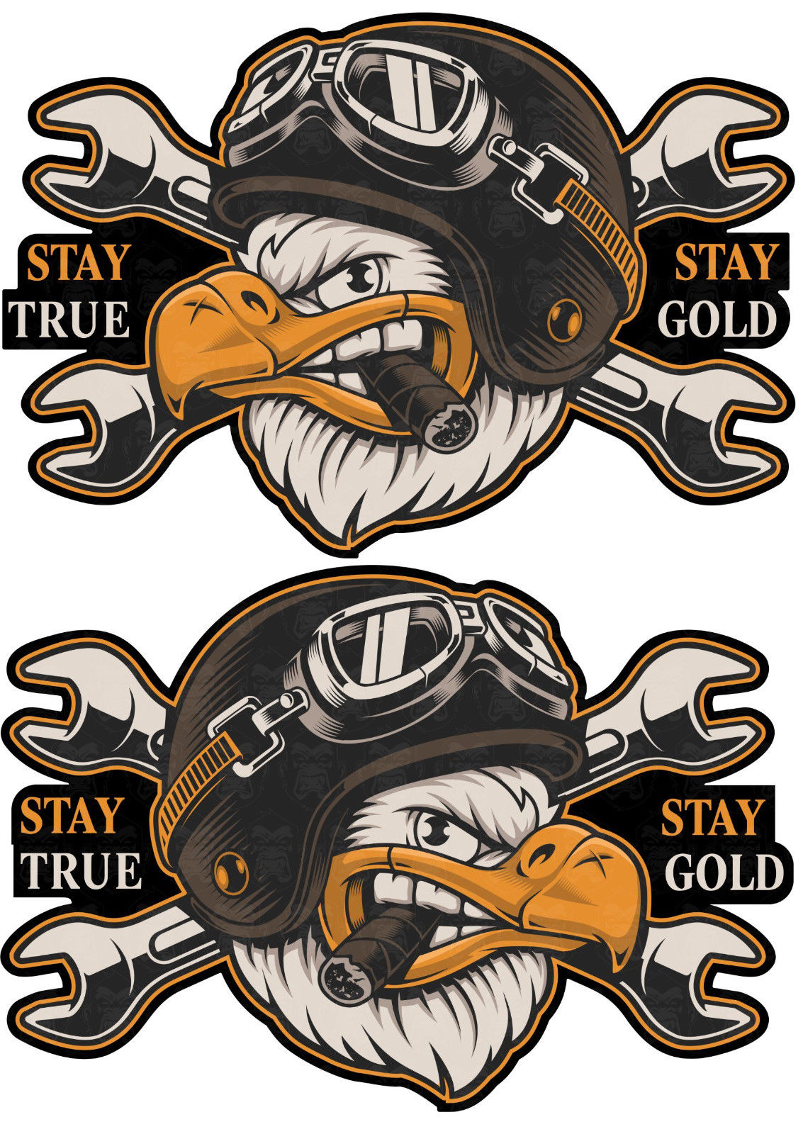 2psc Oldschool Biker Sticker 1percent Chopper Aufkleber Stay True Motorrad USA Bobber car stickers