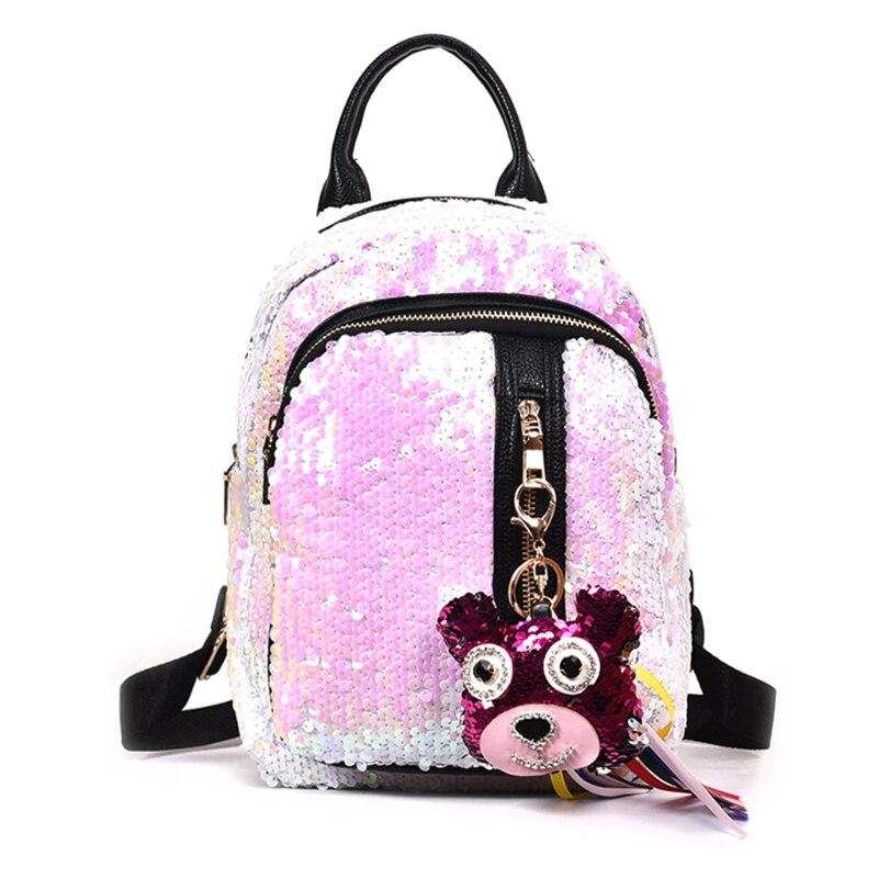 THINKTHENDO Women Girls Sequins Mini Backpack for 2018 Travel School Backpack Rucksack Bookbag Shoulder Bags for Girl 2