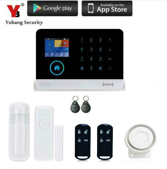 Yobang Security Touch Keypad House 3G Alarm system Wireless WIFI/SMS SMS APP controlled Home Security Alarm Kits 3G WIFI Alarma ножницы по металлу ugo loks правые 280мм