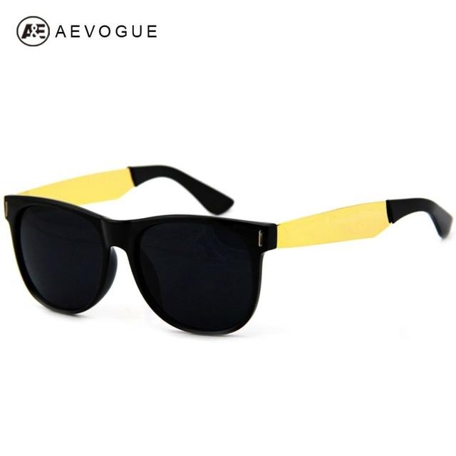 AEVOGUE Retro Brand Design  Sunglasses Men Super Black &Gold Eyewear Classic Sun Glasses Gafas Oculos De Sol UV400 DT0069