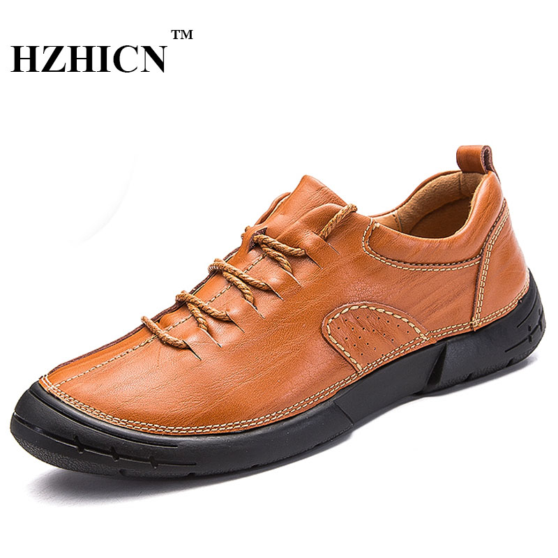 Handmade Genuine Leather Shoes New Casual Oxfords Soft and Comfortable Shoes Lace Up Formal Fashion Shoes Luxury Brand Flats 2017 new women shoes genuine leather casual shoes flats breathable lace up soft fashion brand shoes comfortable round toe white