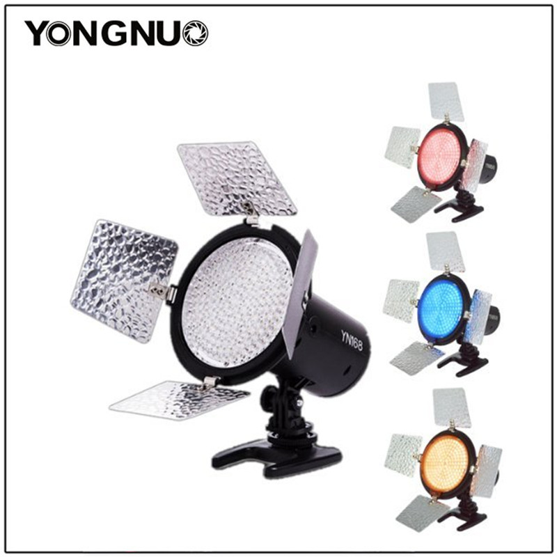 лучшая цена Yongnuo Light YN168 168LEDs lamp led light for camera video Camcorder with 4color plate for Canon Nikon DSLR Camera