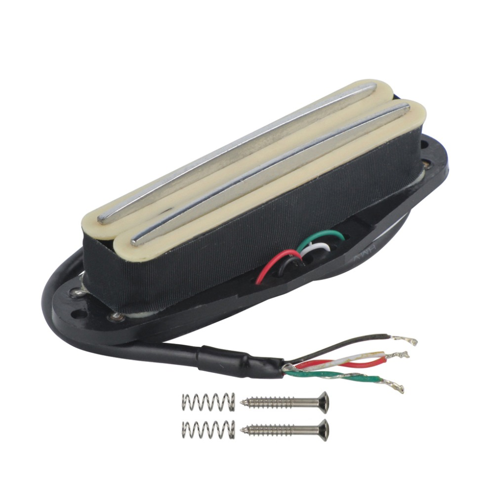 buy new electric guitar dual hot rail humbucker pickup cream 4 wires for strat. Black Bedroom Furniture Sets. Home Design Ideas