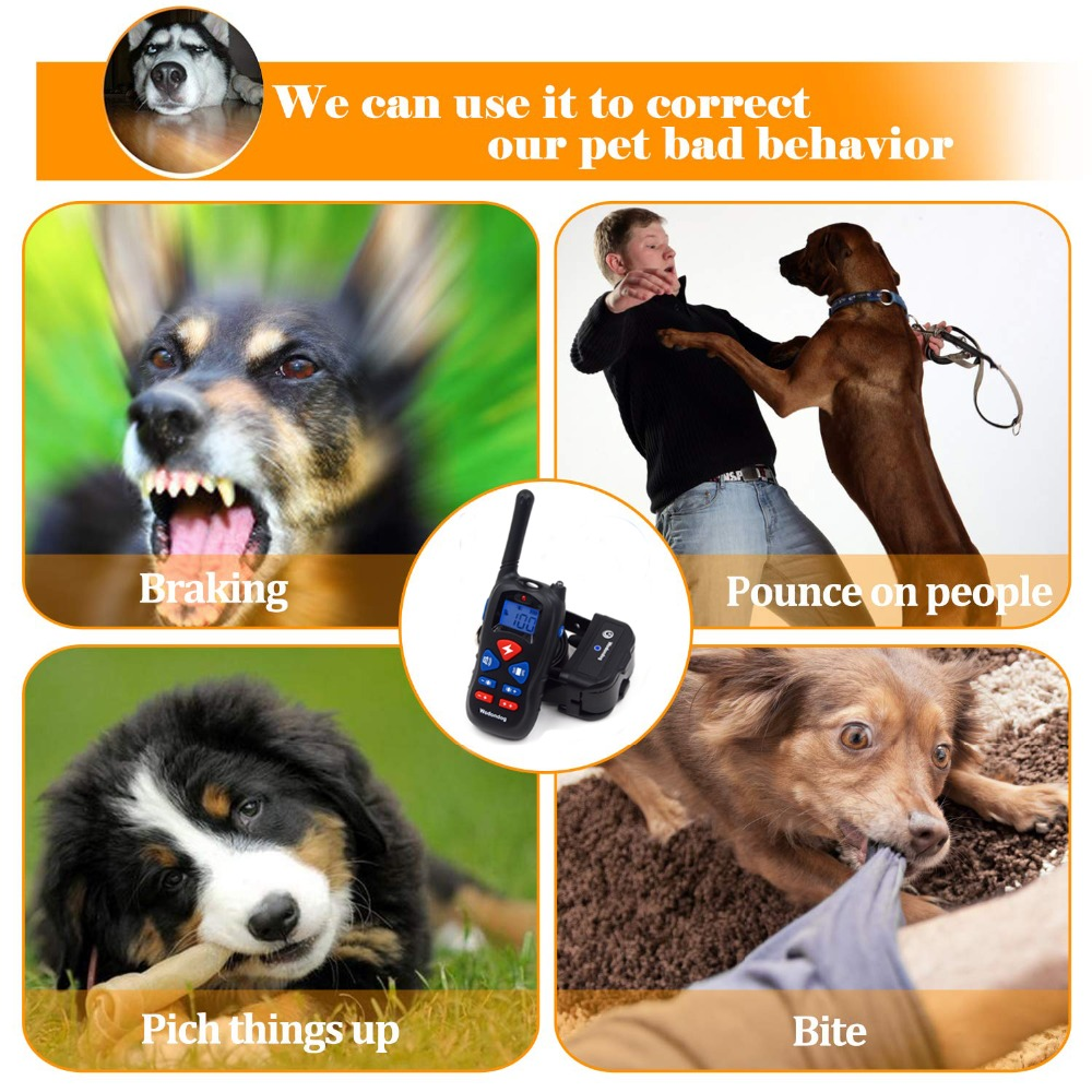 Dog Training Collar Rechargeable Electric Shock Vibration sound  4