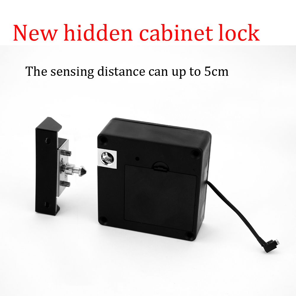 New upgraded Electronic Keyless RFID Hidden Cabinet Lock Private Card Locker Lock Digital Invisible Cabinet Door Lock new 225mm cabinet knobws