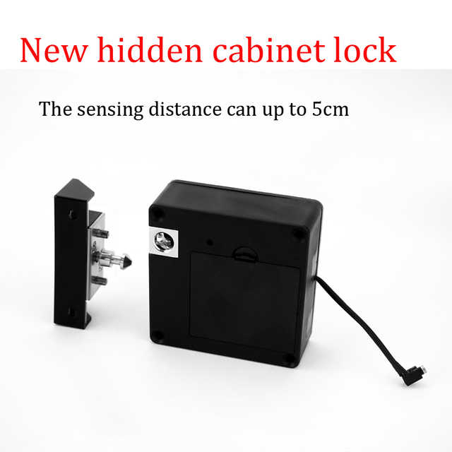 Attirant New Upgraded Electronic Keyless RFID Hidden Cabinet Lock Private Card  Locker Lock Digital Invisible Cabinet Door