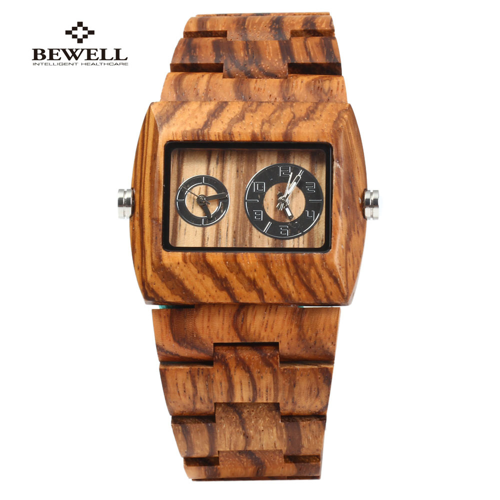 2017 Bewell bambooWooden Watch for Men luxury wristwatch Unique Lug Design Top Brand Luxury Quartz Wood Band male Wrist Watches forsining luxury mmechanical men wristwatch genuine leathe band unique design dial cost effective male casual fashion watch