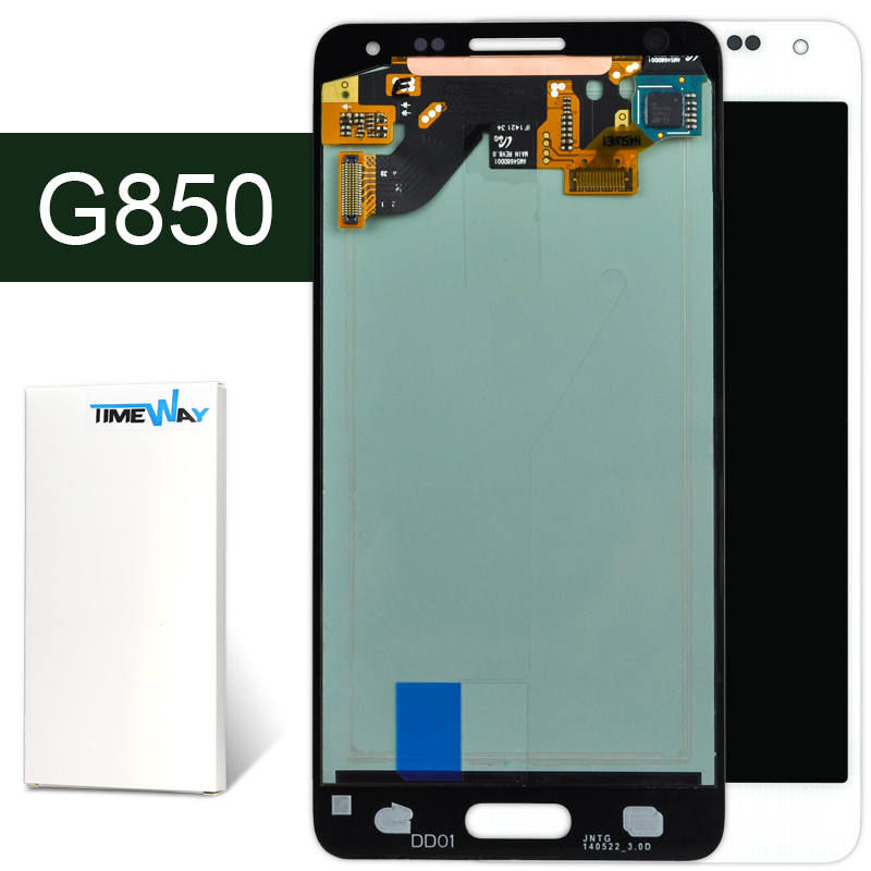 DHL 10pcs For screen Samsung Galaxy Alpha G850 lcd display + touch digitizer assembly 1 piece free shipping replacement parts