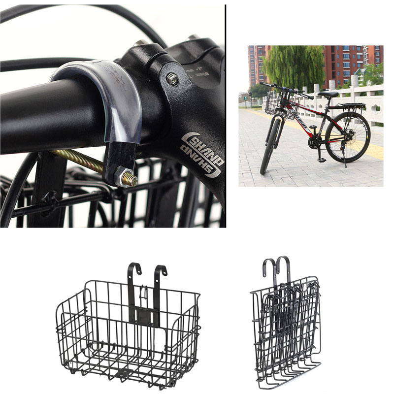 Nrpfell Electric Scooter Storage Basket Accessories For Mijia M365 Electric Scooter Front Bracket Hanging Basket Vegetable Basket Front Hanging Blue Mountain Bike Basket