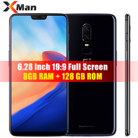 Oneplus 6 LTE Smartphone 6.28 Full Screen Snadragon 845 Octa Core 8GB RAM 128GB ROM Dual Camrea 20+16MP Android 8.1 NFC Phone