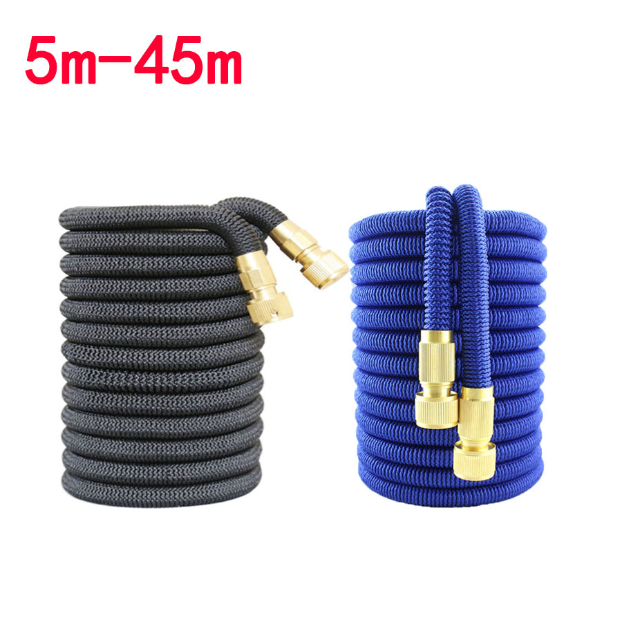 5m-45m Garden Hose Extensible Watering Hose 100FT/150FT Bottle Foam Nozzle Fexible Extendable Pipe Hoses Agricultural Irrigation