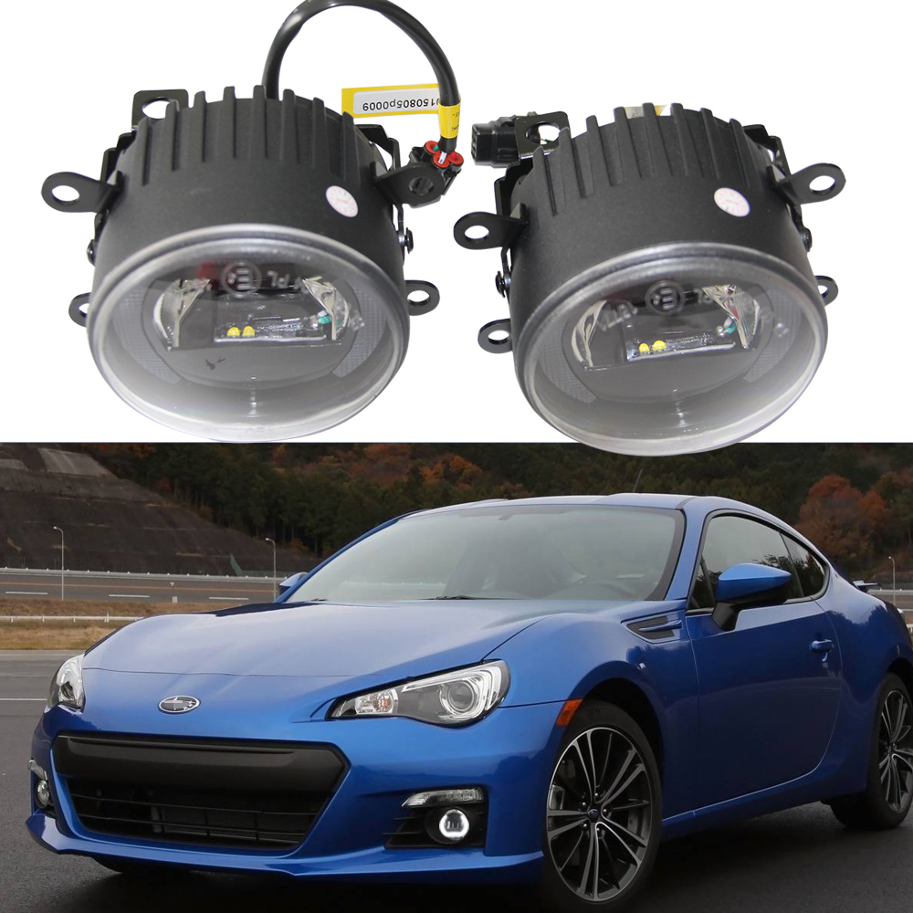 12V 6000k LED DRL Daytime running light for Subaru Forester WRX/STI BRZ Legacy outback 10W fog lamp frame Fog light Car styling free shipping 12v 6000k led drl daytime running light case for subaru wrx 2015 2016 fog lamp frame fog light car styling