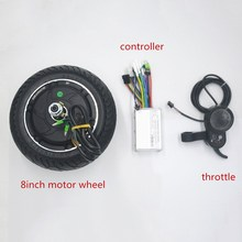 цена на 24V 36V 48V 350W electric scooter motor wheel with controller display throttle kit for Scooter/ebike/xiaomi scooter 8inch