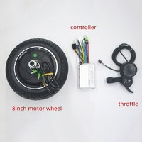 24V 36V 48V 350W electric scooter motor wheel with controller display throttle kit for Scooter/ebike/xiaomi scooter 8inch