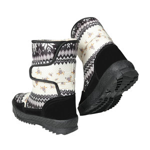 Image 2 - Womens boots winter warm shoes snowboot non slip Rubber outsole snowflake nice looking big plus size free shipping black flower