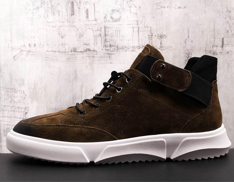 Hombres Diseñador Casual Confort Tendencia Lujo Negro 38 De Errfc Ocio  marrón 43 Zapatos Llegada Hombre Moda Up Nueva ... 3b2a138d931c