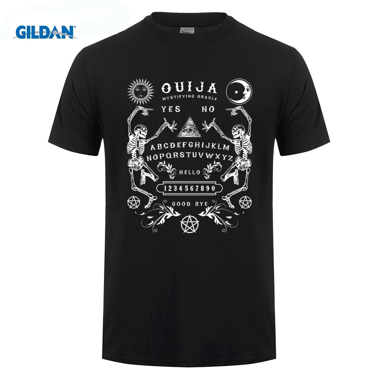 GILDAN New Arrival Men Cotton Men Tee Shirt High Quality Ouija Board Skeletons T-Shirt - Direct From Stockist crossfit T-Shirt