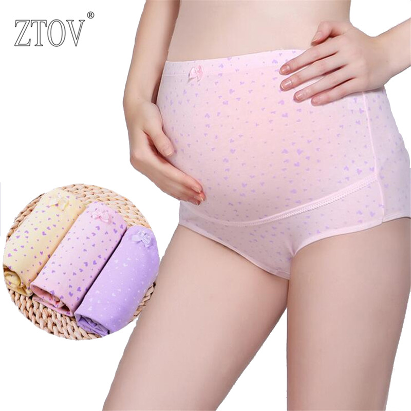 ZTOV 3PCS/Lot Cotton Maternity Panties High waist Briefs underwear for Pregnant Women Pregnancy Intimates panties Clothing stretched high waist abdomen shapping natural cotton briefs hiphugger