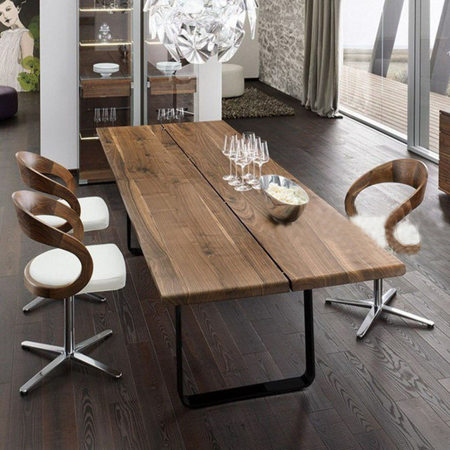 95327356b6657 However excellent home American country wood dining table vintage wrought  iron wood rectangular dining table hotel coffee shop