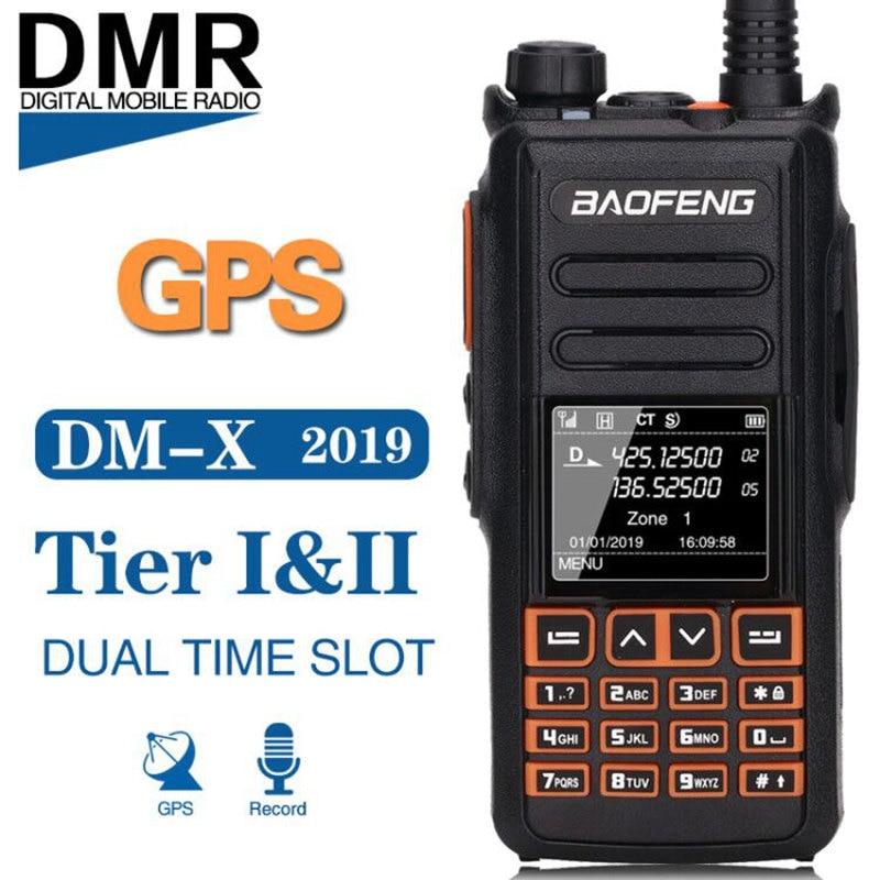 Baofeng DM X GPS Record Tier 1 2 tier II Dual Time Slot DMR Digital Analog