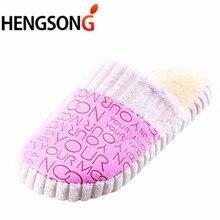 HENGSONG Winter Home Slippers Women Men Soft Indoor Warm pantuflas terlik Cotton-padded Lovers Home Slippers Indoor Shoes 673227