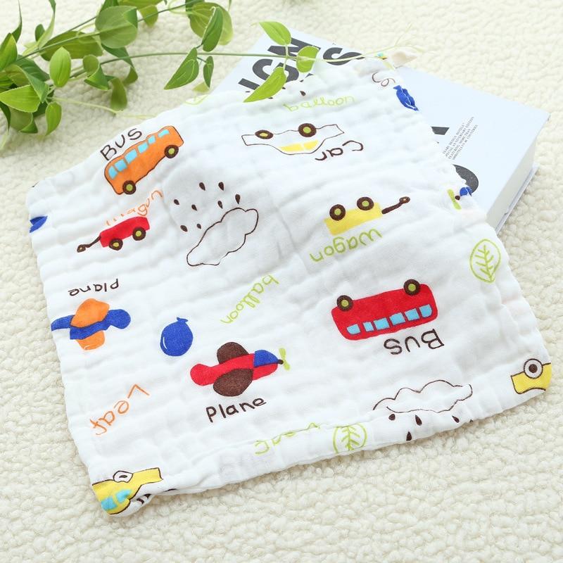 Six-layer Gauze Saliva Towel Cotton Square Towel Cartoon Printing Newborn Baby Wash Face Towel For Kids Children (2)