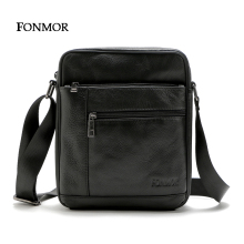 Fonmor multiple cowhide leisure cross man zipper travel shoulder body bags