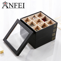 Anfei New Fashion Multi function Jewelry Storage Jewelry Display Box For Rings, Earrings, Bracelets, Necklaces, Sunglasses Z1411