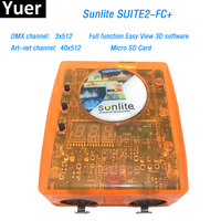 Sunlite Suite2 FC+ DMX USD Controller DMX 3X512 Channel ART NET DJ KTV Disco Party LED Light Stage Lighting controlling software