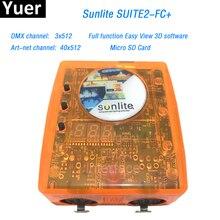 Первоклассное Suite2 FC + DMX-USD контроллер DMX 3X512 канала ART-NET DJ КТВ Дискотека вечерние светодио дный свет освещение сцены управления программным обеспечением