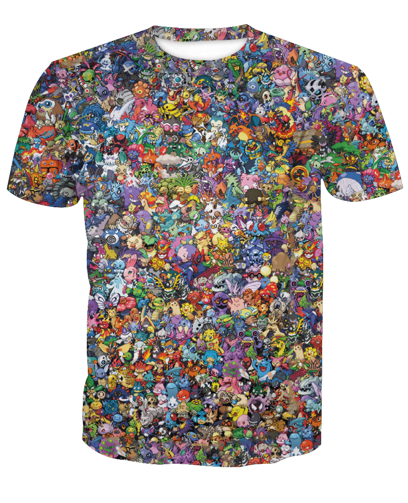 2018-hot-sale-new-fashion-3d-font-b-pokemon-b-font-face-casual-short-sleeve-t-shirts-custom-made-free-shipping-m-to-6xl-factory-outlet