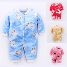 цены YiErYing Newborn Baby Rompers Clothes Cute Cartoon Printed Autumn Winter Cotton Baby Boy Girl Romper Long Sleeve Infant Jumpsuit