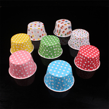 300pcs Cake paper tray Medium-sized curling Laminated cups cake chocolate mold resistant roast decorating tools AB580