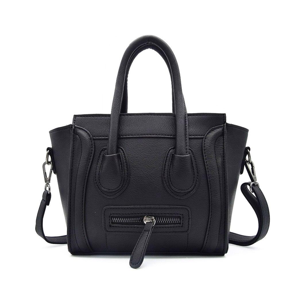 New Fashion Women Cross Body Bag Female PU Leather Casual Shoulder Bag Brand Designer Handbag High Quality Ladies Trapeze Bag