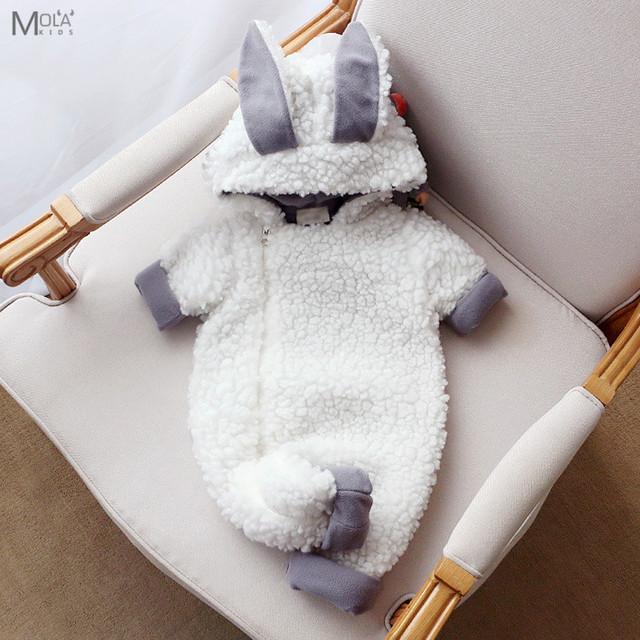 KIKIKIDS New Born Roupa Do Bebê Carneiros Bonitos Romper Macacão Animais Ano novo bebê nascido Romper Velo Roupas MAKA CRIANÇAS Kawaii inverno