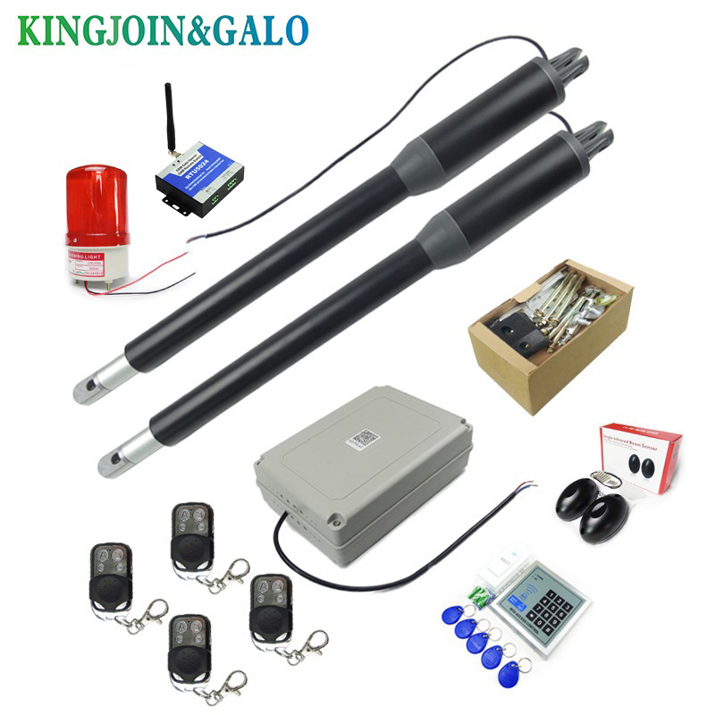 Electric Linear Actuator 200kg 300kgs Engine Motor System Automatic Swing Gate Opener 2 remote control